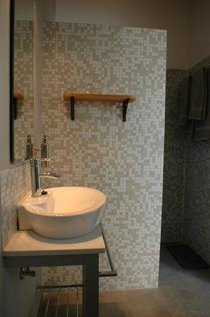 Schellinkhout, The Netherlands: privé badkamer met inloopdouche in 't Kamertje