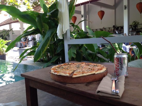 Plantation - urban resort & spa: Having a pizza poolside on a gorgeous lazy afternoon
