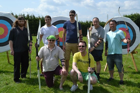 Wild Park Derbyshire: Archery, a perfect activity for friends, families or colleagues.