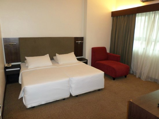 Crown Regency Serviced Suites : Two single beds