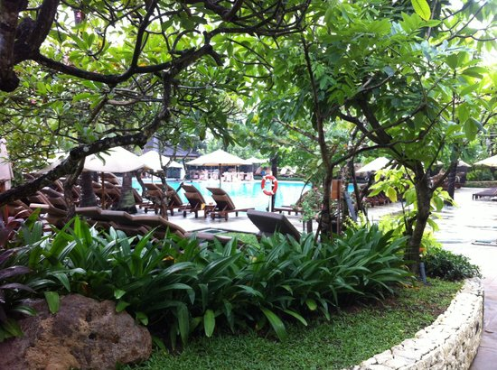 Padma Resort Legian : View of pool from our chalet