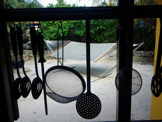 Reef and Beef Aruba: even the kitchen view is relaxing