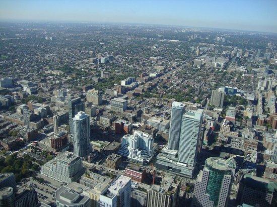 Vista do centro de Toronto da CN Tower