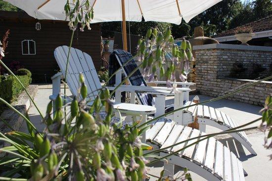 Camping en B&B Welgelegen : patio welgelegen
