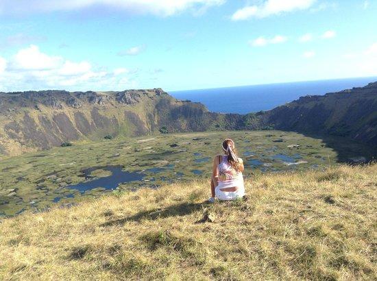 Rano Kau : Vista impresionante del cráter