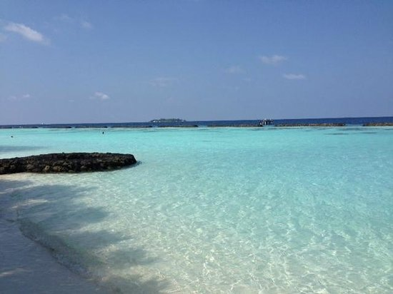 Kurumba Maldives: Playa delante del bungalow