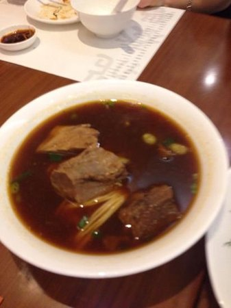 Din Tai Fung (Yee Wo Branch): Beef brisket noodle soup