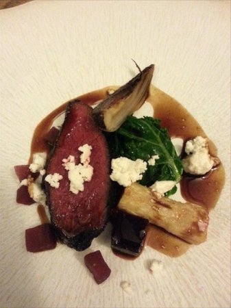 THE TREBY ARMS: 4th course: Cocoa marinated Venison