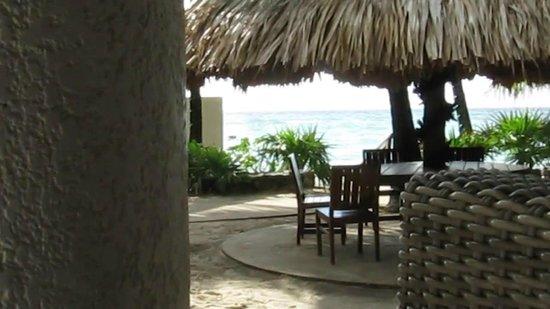 Mayan Princess Beach & Dive Resort: view from my favourite sofa