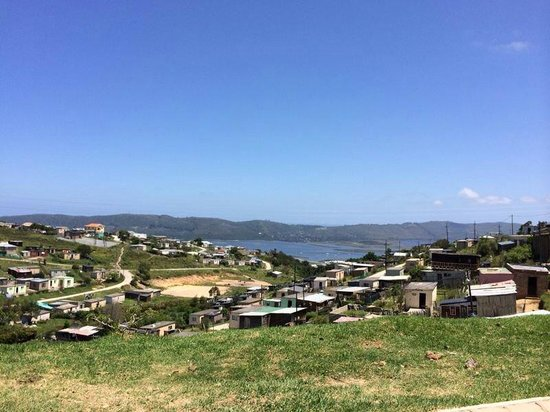 Knysna, South Africa: View of the township