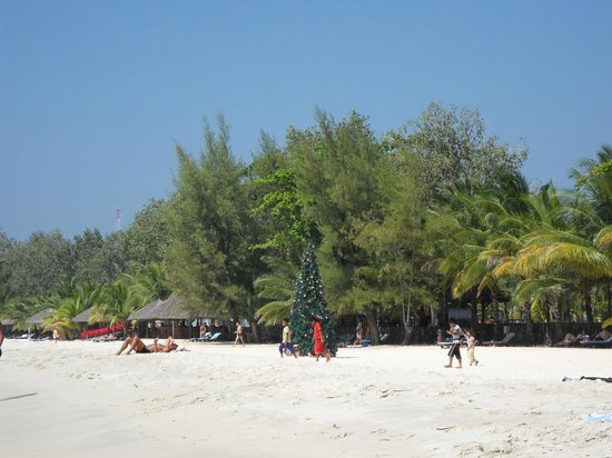 Ochheuteal Beach: a perfect setting for a XMast Tree