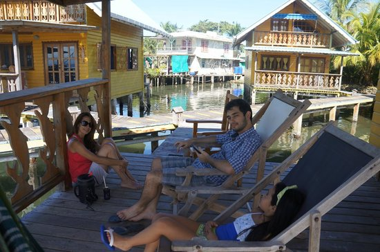 "Koko Resort: Relaxing at Dolphin Cabin: drinking ""terere"" Paraguayan drink"