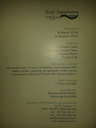 Rizzi Aquacharme Hotel & Spa: Descrizione hotel