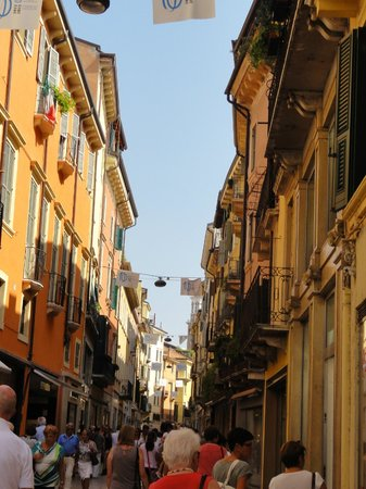 The buildings overlooking Via Mazzini