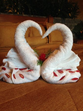 The Springs Resort and Spa: Fun Towel Art