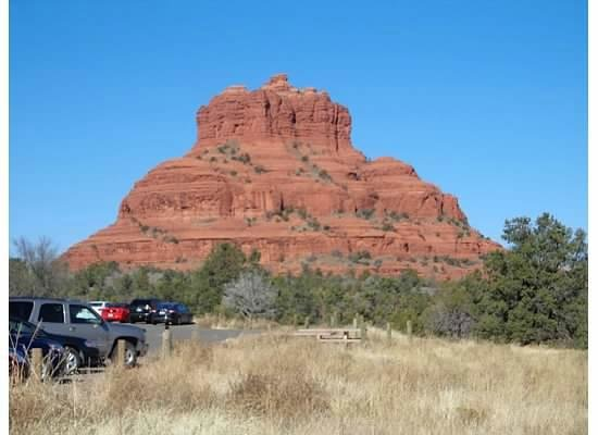 Bell Rock from the starting point.