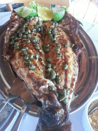 Restaurante Zanoni: Anchova com molho de alcaparras