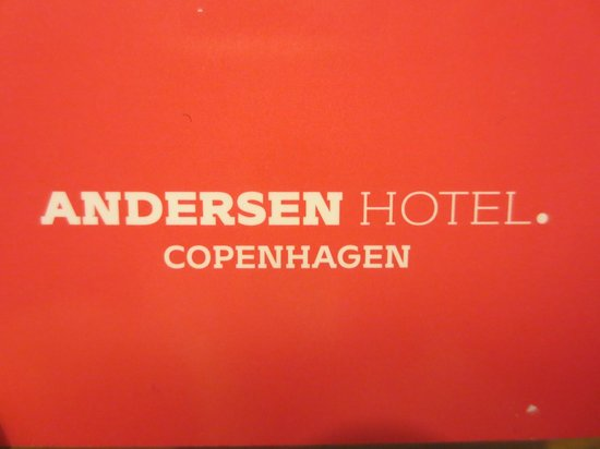 Andersen Boutique Hotel: The room card
