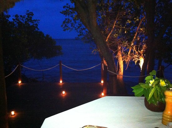 The Menjangan: Photo of our view on the private dock during the romantic candle-lit dinner