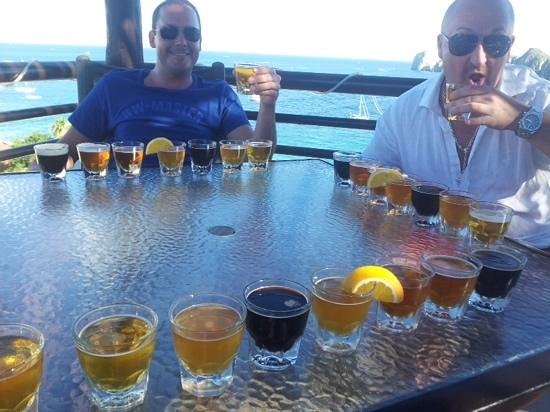 Baja Brewing Company: we had to try them all!