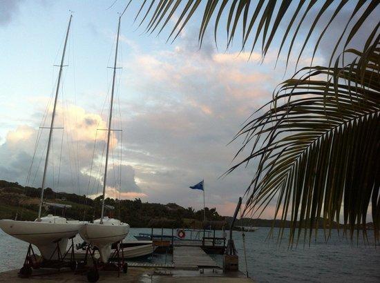 Harmony Hall Antigua: la spiaggia e il molo