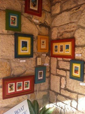 Harmony Hall Antigua: portico davanti alla galleria d'arte