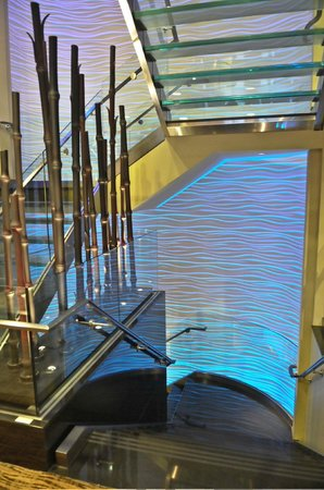 Loews Hotel 1000, Seattle : Striking hotel staircase, photo by Mike Keenan