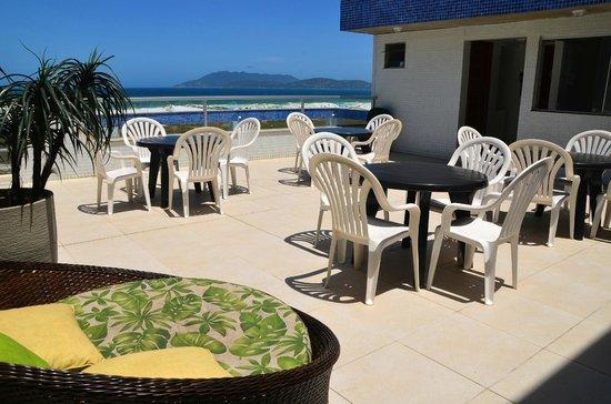 Hotel Balneario Cabo Frio: Terraço com vista panorâmica