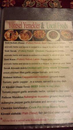 Comlek Restaurant : Menu. Meatballs and pottery kebab was awesome