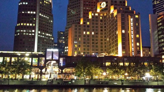 The Langham, Melbourne: outside view from river