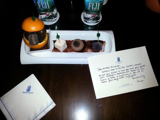The Ritz-Carlton Orlando, Grande Lakes : Treats from Tanya our Event Coordinator