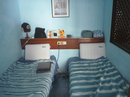 Terrazas: room after we cleaned it ourselves