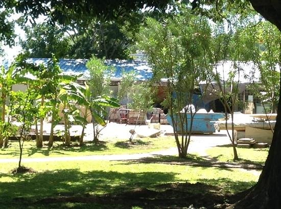 Radisson Grenada Beach Resort: building supplies on clear view