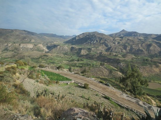 Killawasi Lodge: Colca Valley with terraces (before you get to canyon)