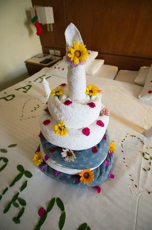 Towel art Birthday cake Picture of Cyrene Grand Hotel Sharm El