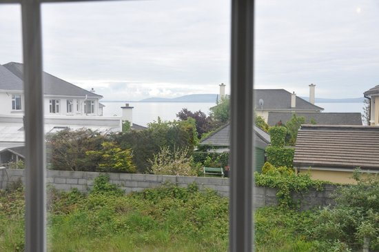 Marless House Bed & Breakfast: The view of Galway Bay from the second floor of the Marless House.