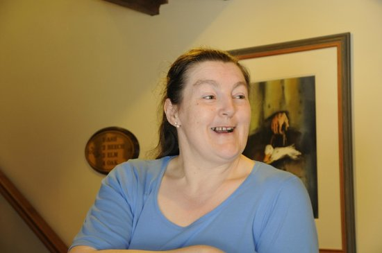 Friars Glen : Sweet Brigid who served breakfast and gave us wonderful travel tips.