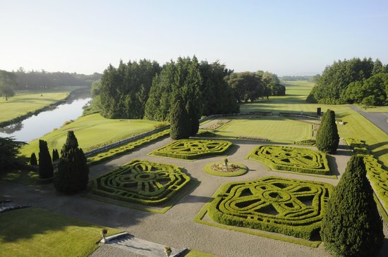 Adare Manor: Our room (402)'s stunning formal garden view.