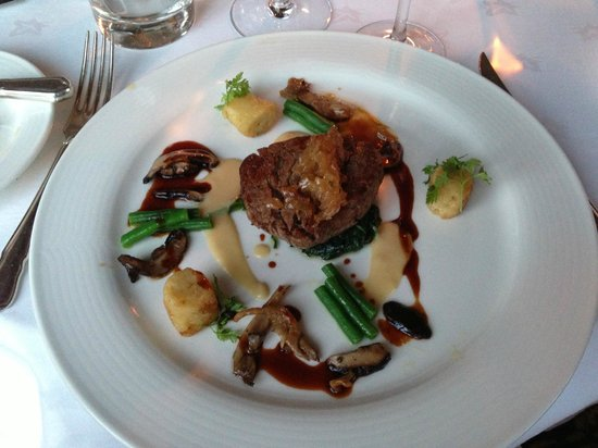 Adare Manor: One course of our 8 course tasting meal - spectacular Irish filet.