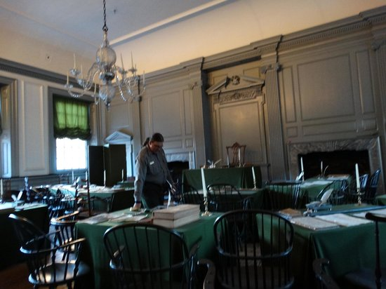 Independence Hall: Were everyone met concering the Constitution