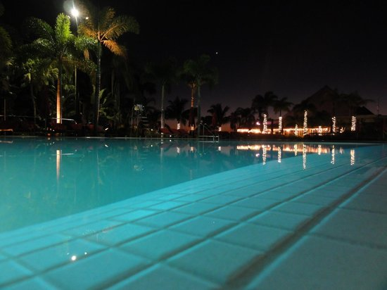 Club Med Sandpiper Bay: Family Pool by night