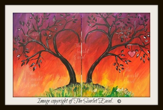 "Altamonte Springs, FL: ""Burning Love"" douvle canvas painting. Great for dates!"