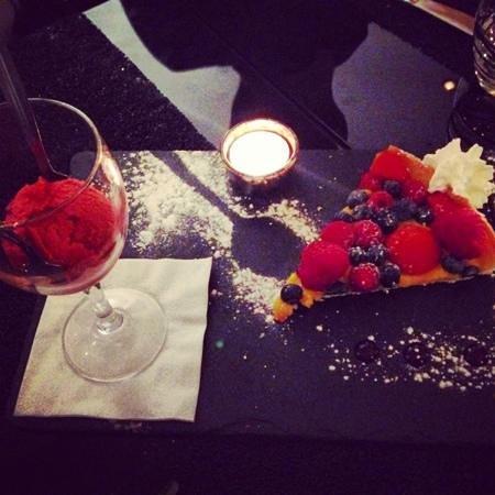 Loga: tarte aux fruits rouges