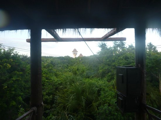 Xplor Park : One of the zip-lines