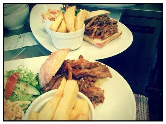 Barista: BBQ pulled pork sandwich