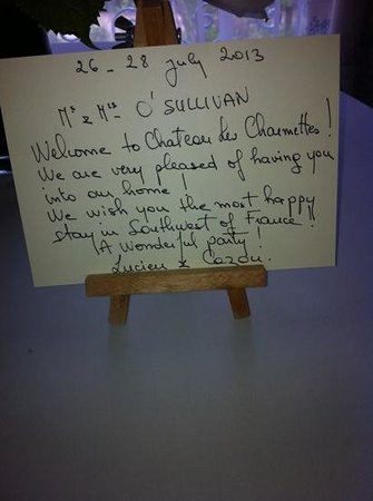 Chateau Les Charmettes : very welcoming