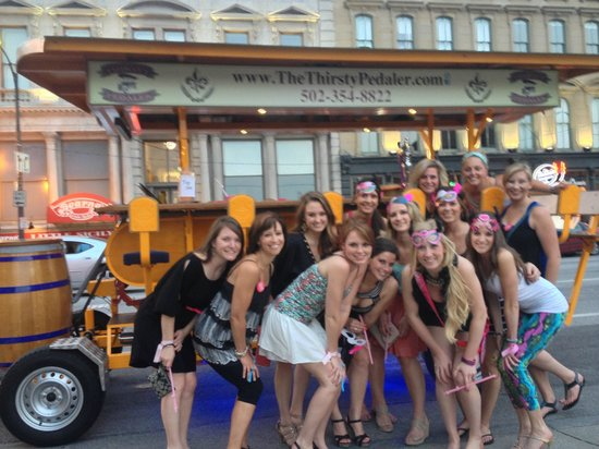 The Thirsty Pedaler: Perfect for Bachelorette Parties!