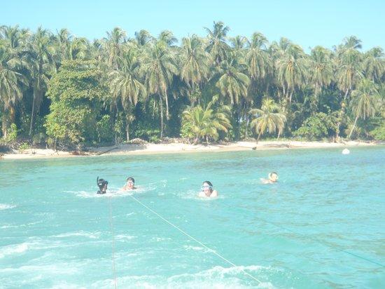 Isla Zapatillas : Preparandose para hacer deepboard