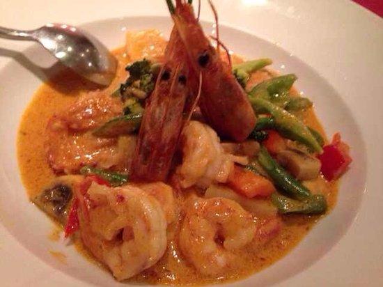 Sacacorchos Uncibay: Gambas al curry rojo!! Comida tailandesa! Riquisimaaaaaaaa
