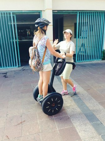 Segway Tours of Puerto Rico: Segway Training Session by Natalie